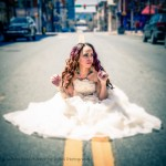 Wedding Dress street photography with Lola and UrBoi Photography